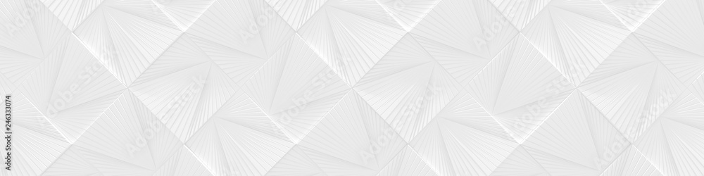 White Wide Background (Website head) (3d Illustration)