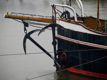 Vintage Steam Ship In The Port Of Duisburg