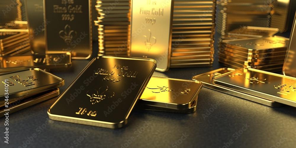 Fototapeta Fine Gold Bars 10 Oz