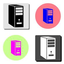System Unit Of A Computer. Fla...