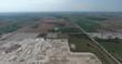 Farm Fields Aerial View Ascend