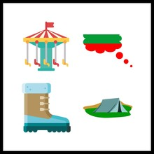 4 Park Icon. Vector Illustrati...