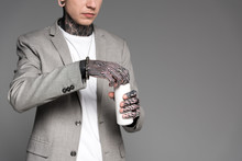 Cropped Shot Of Tattooed Man I...