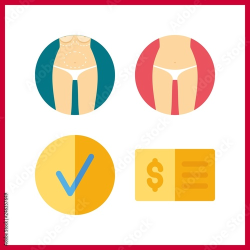 4 form icon  Vector illustration form set  check and checked icons