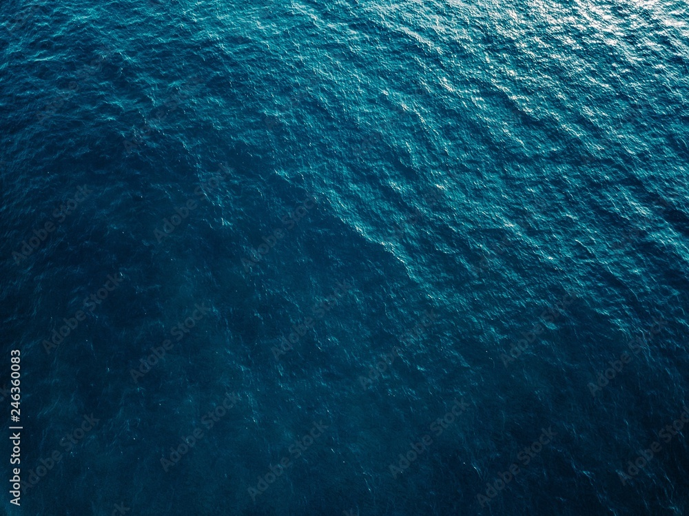 Fototapety, obrazy: Aerial view of blue sea surface