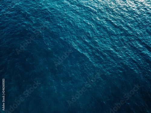 Canvas Print Aerial view of blue sea surface