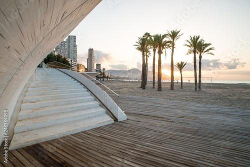 Fototapeta Benidorm beach promenade