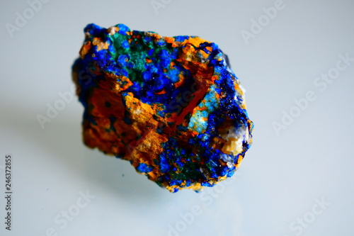 an azurite mineral harvested and analyzed in the laboratory Canvas Print