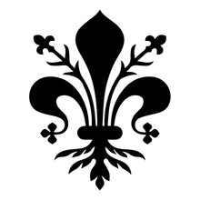 Flag Of Florence. Coat Of Arms Of Florence - Tuscany. The Fleur De Lis Of Florence, Symbol Of Florence, Italy,heraldic, Seal Vector