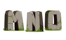 Alphabets Made Of Stone For Jungle Theme Part 5