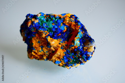 an azurite mineral harvested and analyzed in the laboratory Wallpaper Mural