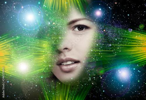 Space disco person