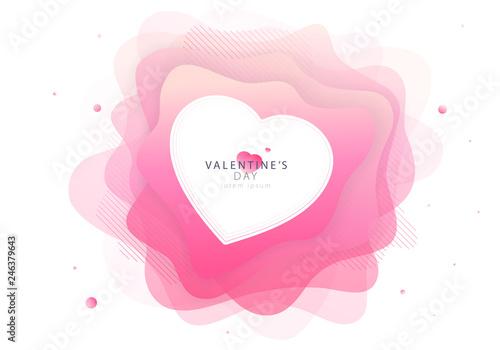 Photo  Valentine's Day trendy modern invitation card design