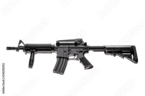 Fotografía  Large picture of an isolated weapon AR-15