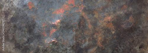 Türaufkleber Metall Metal steel sheet background texture, partially rusty, banner