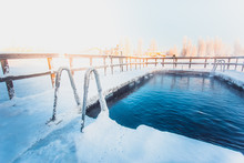 Very Cold Day At Ice Swimming ...