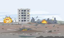 Destroyed City Concept Landsca...