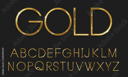 Photo Golden font vector
