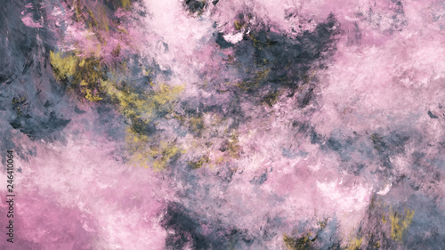 Foto auf AluDibond Rosa hell Abstract grey and rose fantastic clouds. Fractal background. 3d rendering.