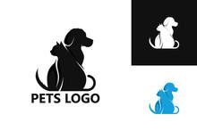 Pets Logo Template Design Vector, Emblem, Design Concept, Creative Symbol, Icon