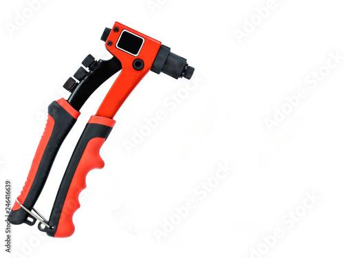 Fotografie, Obraz  A new rivet gun on an isolated background