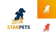 Star Pets Logo Template Design Vector, Emblem, Design Concept, Creative Symbol, Icon