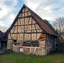 Old Rustic House In Alsace, France