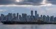 Turning Time lapse of Vancouver skyline from North Vancouver, British Columbia, Canada, North America