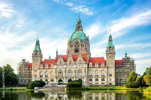 Foto op Canvas Europa Hannover Neues Rathaus