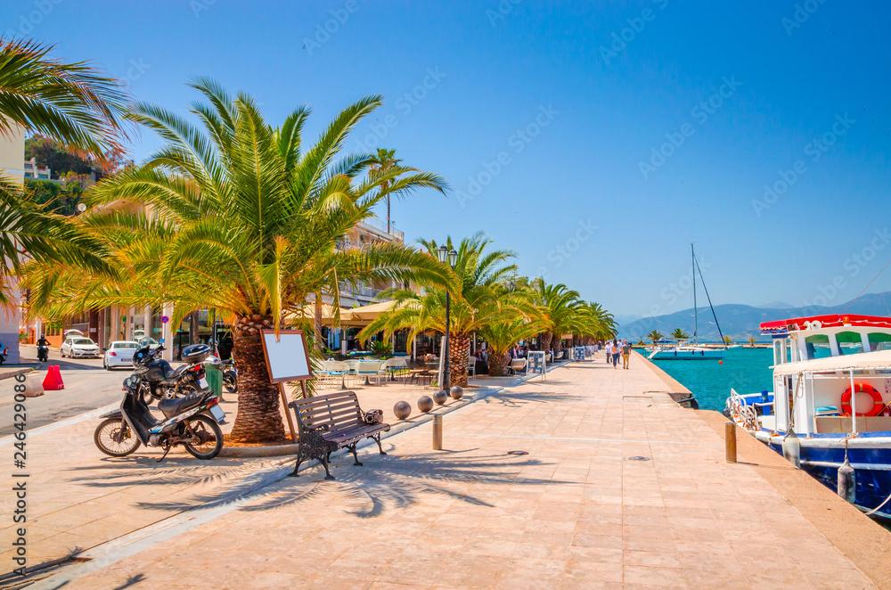 Fototapeta Port in beautiful city Nafplio, Greece