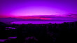 canvas print picture - Purple sunset