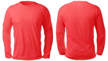 Red Long Sleeved Shirt Design ...