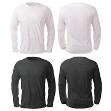 Black White Long Sleeved Shirt Design Template