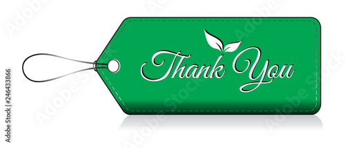 Photo Thank you, Label thank you tag