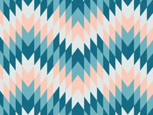 Abstract Geometric Zig Zag Hipster Fashion Hexagon Pattern, Rhombuses Pattern Muti Color Background
