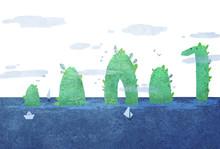 Sea Monster Or Islands?