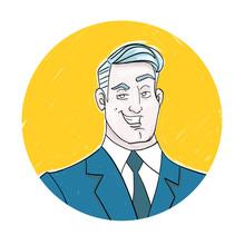 Business Man Character Portrait