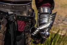 Medieval Knight Glove Detail