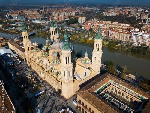 Fotobehang Historisch geb. Aerial view of Saragossa