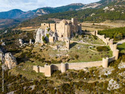 Fotobehang Historisch geb. Castillo de Loarre – ancient Spanish fortress