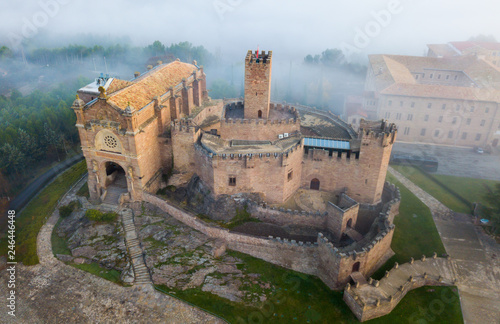 Fotobehang Historisch geb. Famous fortress Castillo de Javier in the early morning. Navarre. Aragon. Spain