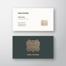 Owl Totem Abstract Vector Logo...