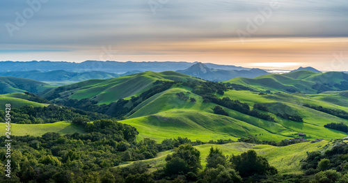 View of Mountains and Grass Hills