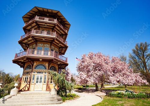 Foto op Aluminium Amerikaanse Plekken Pagoda Observatory in Patterson park, Baltimore, USA