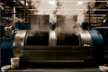 Steam Emitting From Washing Machine In Factory