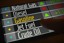 Rising Prices Of Gasoline And Various Commodities On The Stock Market On Smartphone