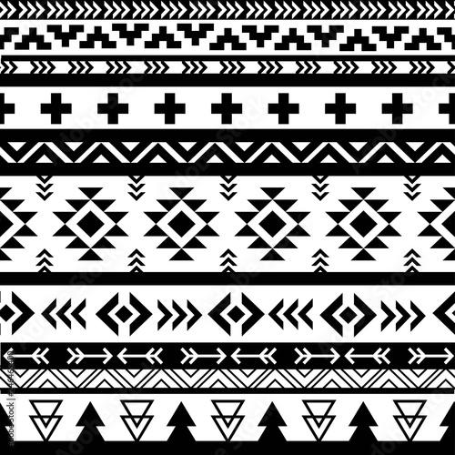 Beautiful aztec vector seamless pattern