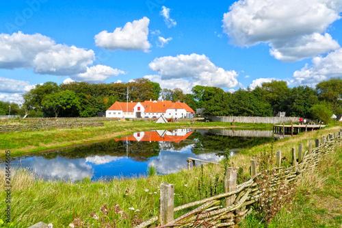 Fototapeta Danish landscapes: farm at Ribe in Jutland Peninsula