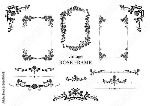elements set of roses Canvas Print