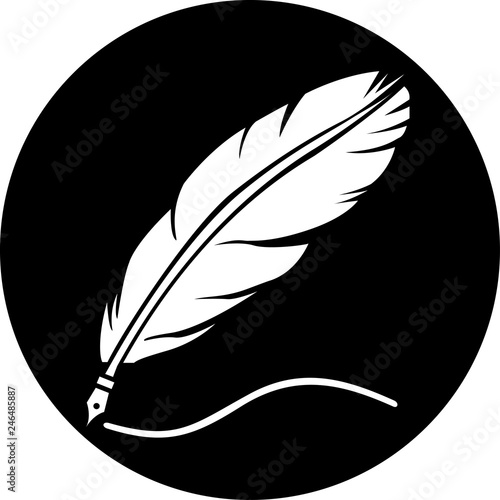 Feather icon. Feather logo isolated on white background - Vector #246485887